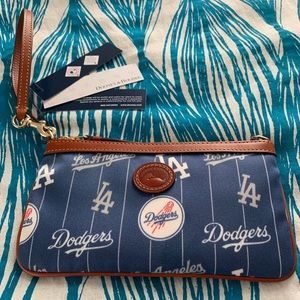 Dooney & Bourke MLB LA Dodgers Baseball Wristlet